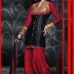 Black & Red Ready Made Patiala Salwar kameez