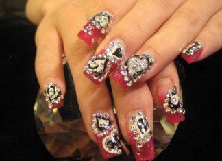 latest valentine day Nails Easy Design 2013