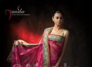 designer saree blouse patterns by Mansha boutique