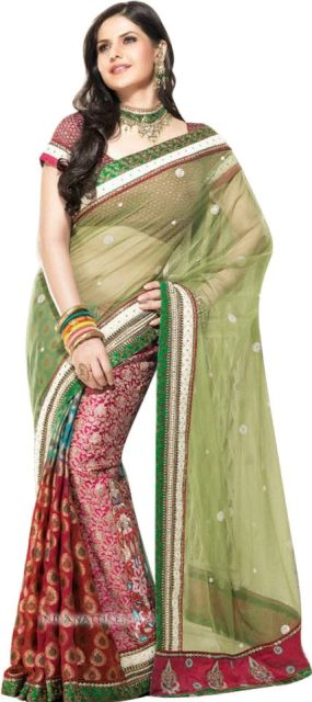Zarine Khan embroidered sarees india