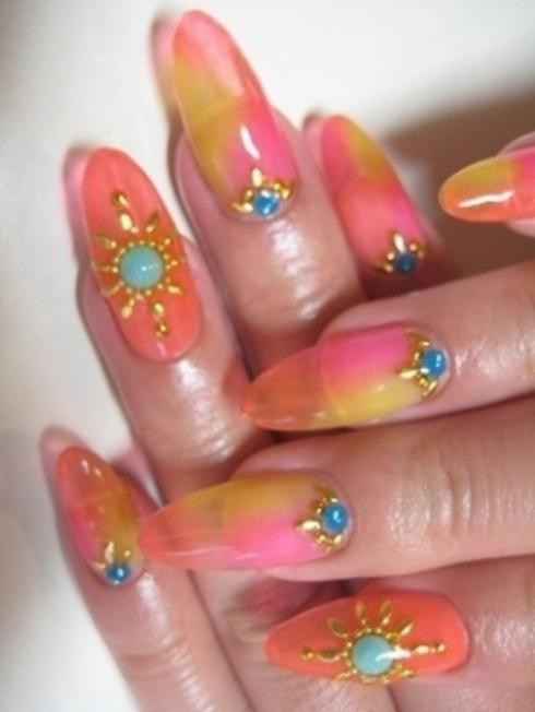 spring fashion show simple nails art