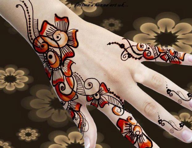 Trendy Easy Hand Mehndi Designs 2013 For Wedding