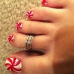 Latest Christmas Feet, Toe Nails 2013 Art Designs