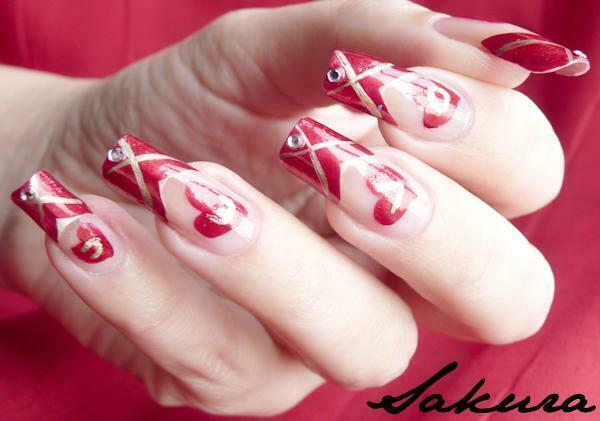 New Valentines Flower Nail Designs 2015 For Girls Women
