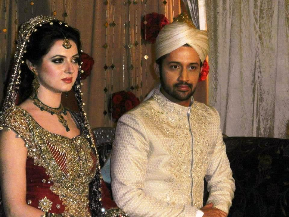 Atif Aslam & Sara Bharwana Wedding Barat Pictures 2013