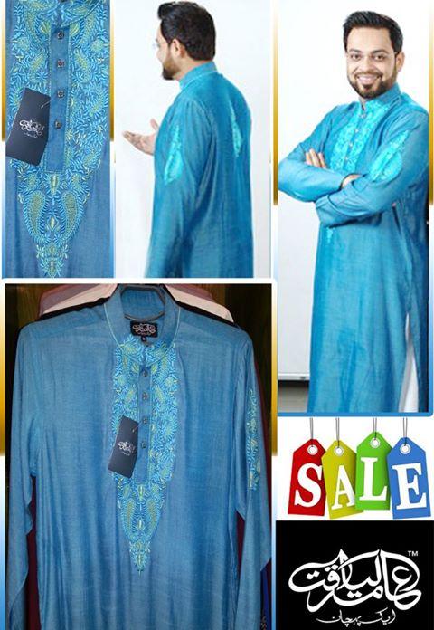 Aamir Liaquat Aik Pehchan Latest Eid Kurta Collection 2013 For Men 03