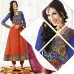 Raveena Tandon Anarkali Frock - Shalwar Kameez Dresses 2013 By Natasha Couture 601