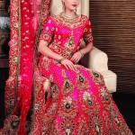Dark Pink pakistani wedding dress
