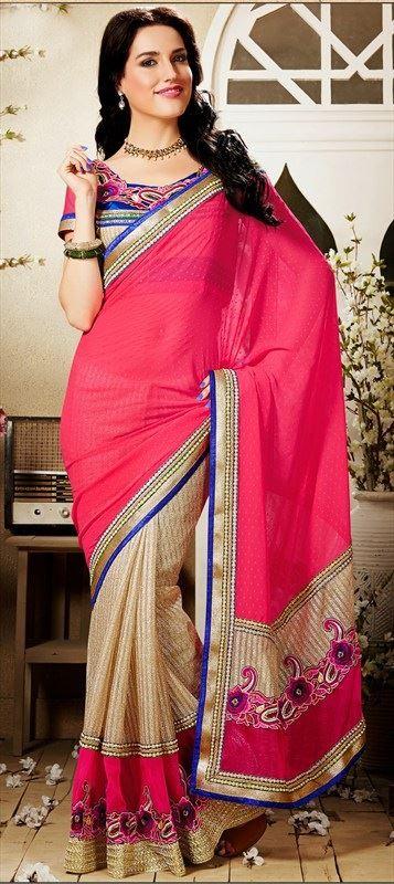 new saree trend