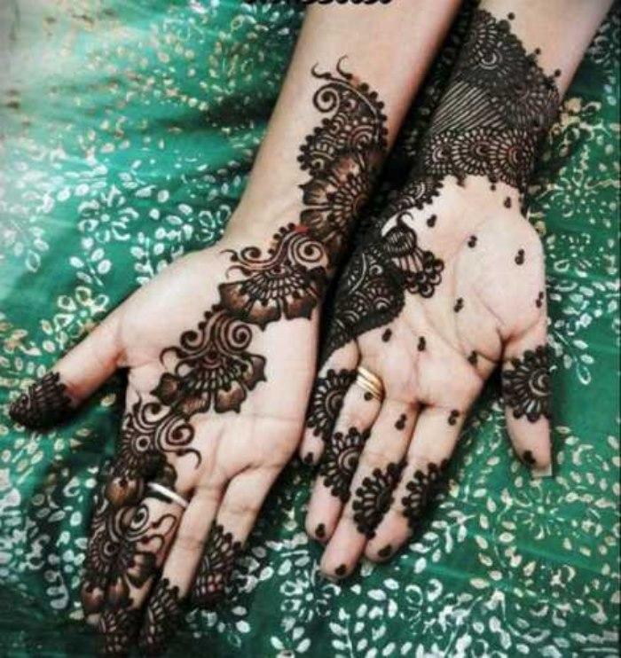 Girls Mehndi Designs 2014 For Hands