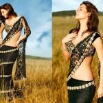 Black Hot lehenga Blouse Saree Fashion 2014 for Indian Women (8)