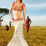 Elegant Lehenga Blouse Saree Fashion 2014 for Indian Women (3)