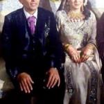 Umar Akmal Mehndi with Noor Amna