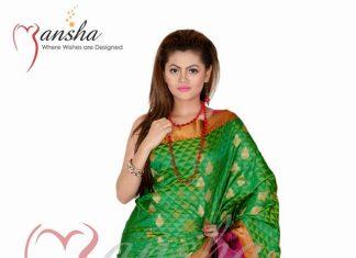 Mansha Sarees Fashion 2014 For Ladies (2)