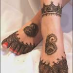 Latest Eid Feet Mehndi Designs 2014 For Girls