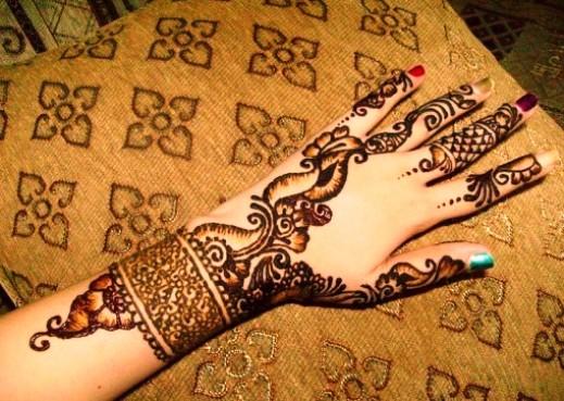 Yellow pakistani mehndi designs for hands