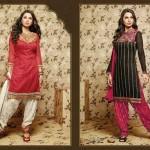 Green Indian punjabi patiala shalwar suits for Summer