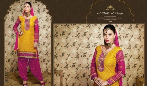 Punjabi Indian punjabi patiala shalwar suits for Girls (4)
