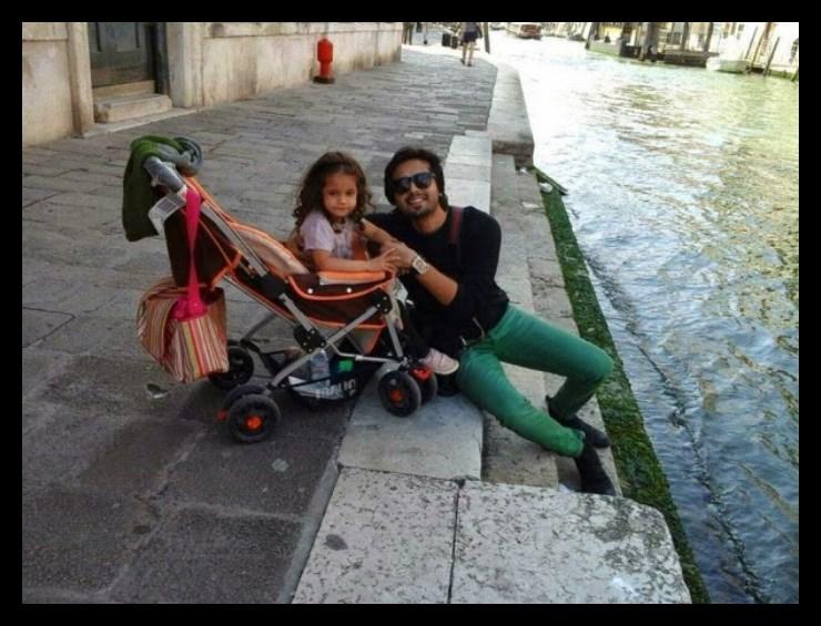 Fahad Mustafa with her daugher latest photos