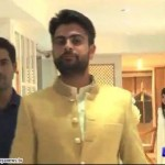 Ahmad Shahzad walking with Wife Sana Murad