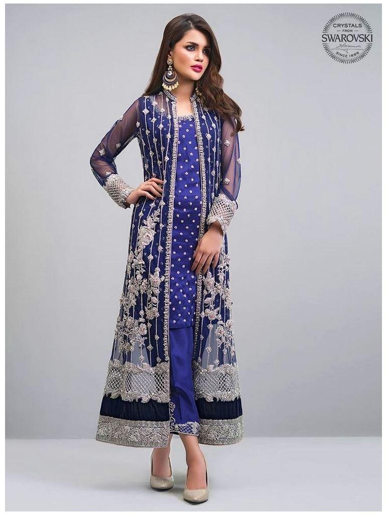 Navy-blue-jacket by Zainab Chottani