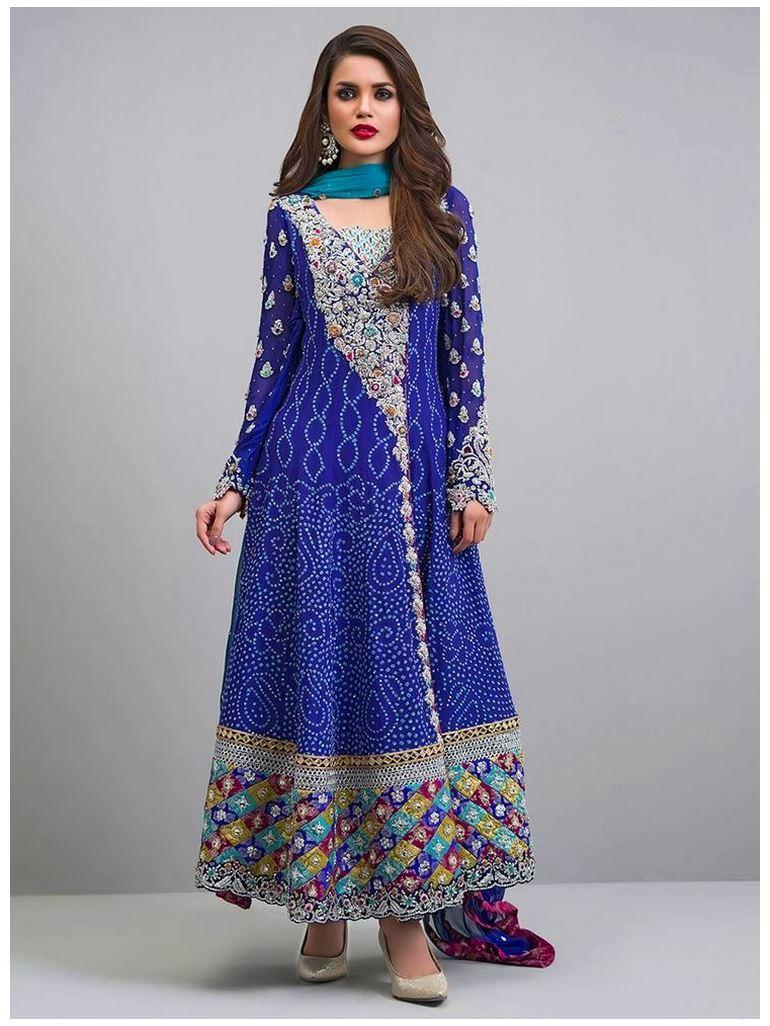 New Cobalt-angarkha dresses by Zainab Chottani