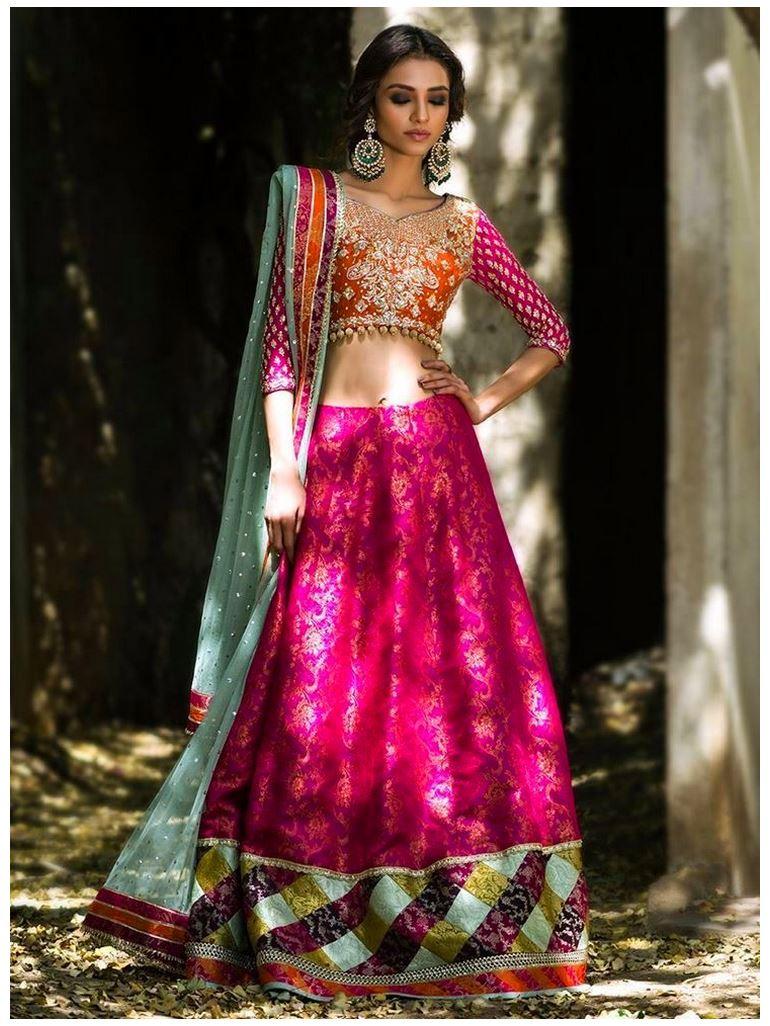 Zainab Chottani orange-and-hot-pink