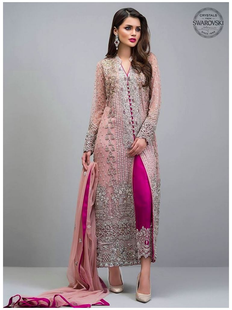 Zainab Chottani rose-gold-jacket Party Wear Heavy Dresses