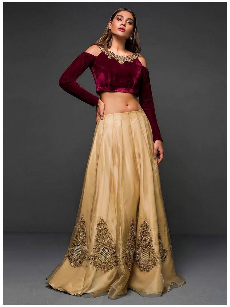 Zainab Chottanimaroon-and-gold dress
