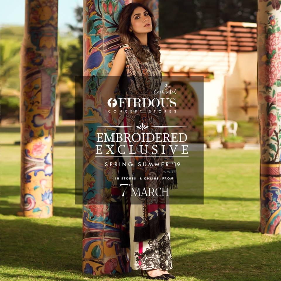 Fridous Casual Kurti Embroidered Dresses 2019 (1)