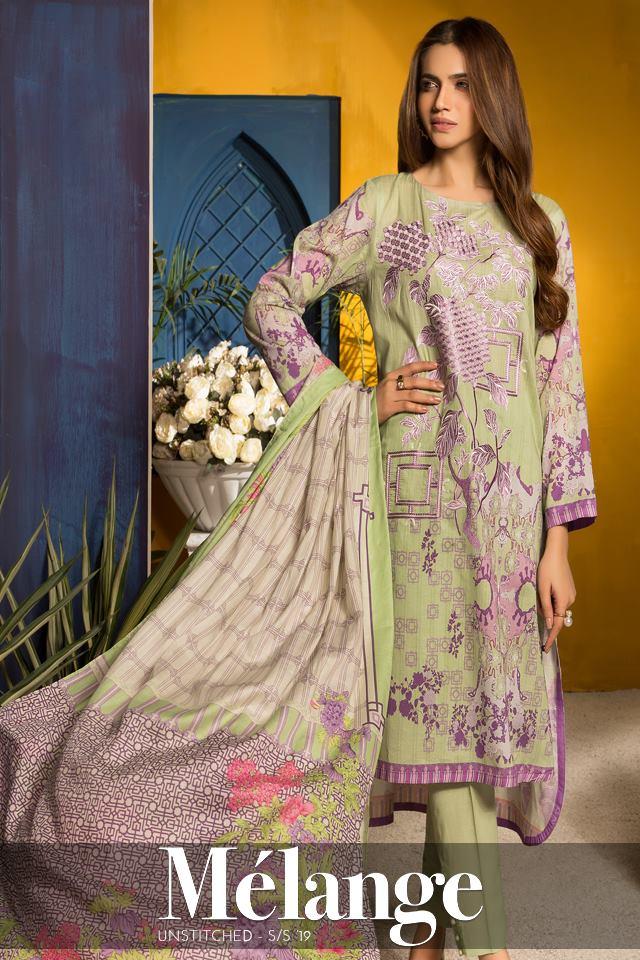 Warda Designer Stupendously printed Mélange Dresses collection SS '2019 (2)